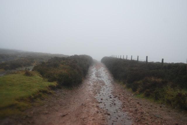 Macmillan Way West in the mist