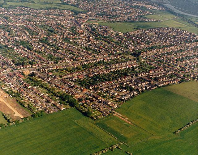 Aerial view of south-western Benfleet
