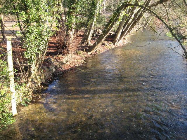 River Lambourn at Lockett's Bridge near Donnington