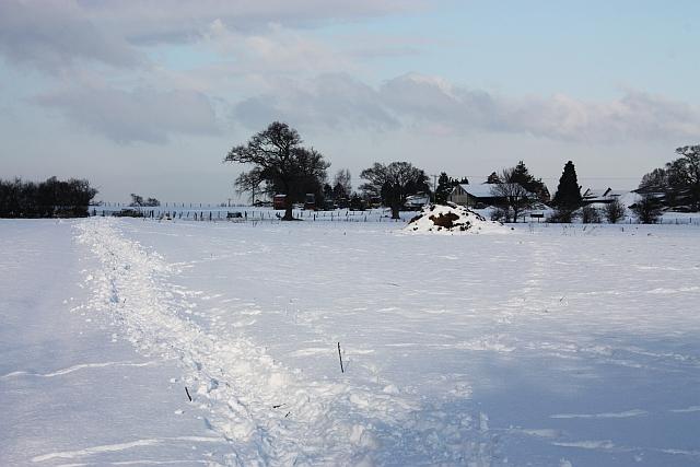 Snow covered path Malvern