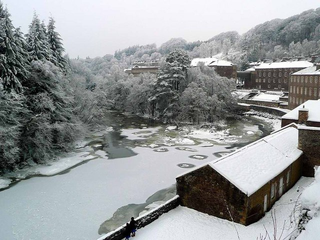 New Lanark in the snow