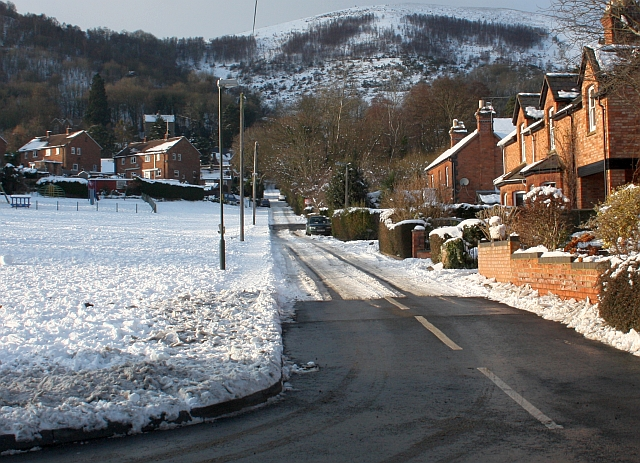 Partial snow clearance in Assarts Road