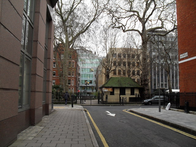 Looking from Old North Street into Red Lion Square