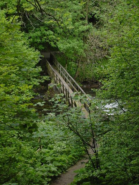 Miller's Dale - footbridge near Ravenstor