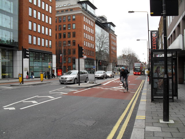 Cyclist in Theobald's Road