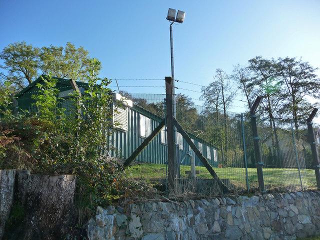 Control building at Loch Fyne Noise Range