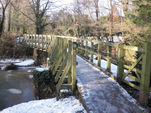 Footbridge, across the mill leat