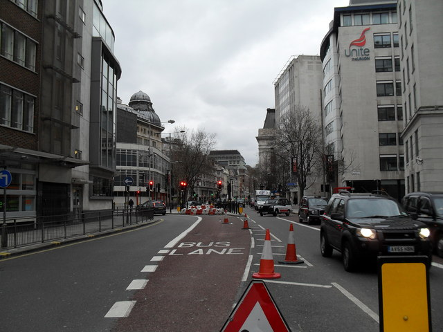Looking west in Theobald's Road