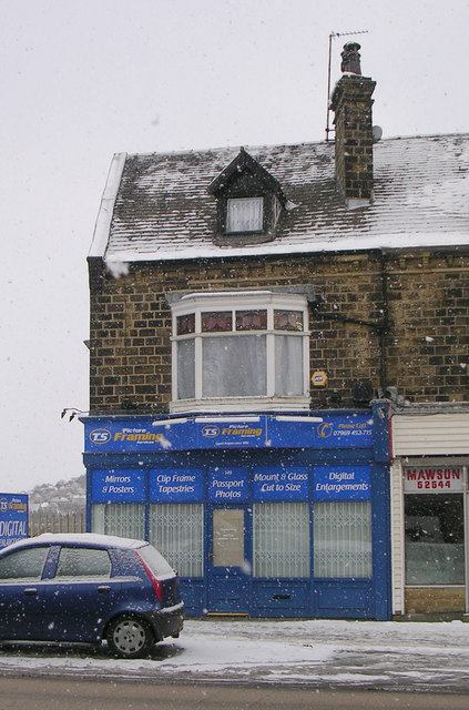 Picture Framing - Bradford Road - in a snowstorm!