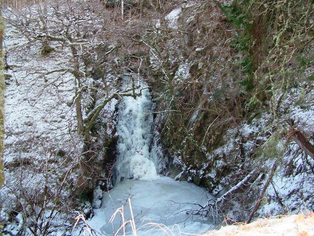 Frozen Waterfall, River Kames, Loch Aweside