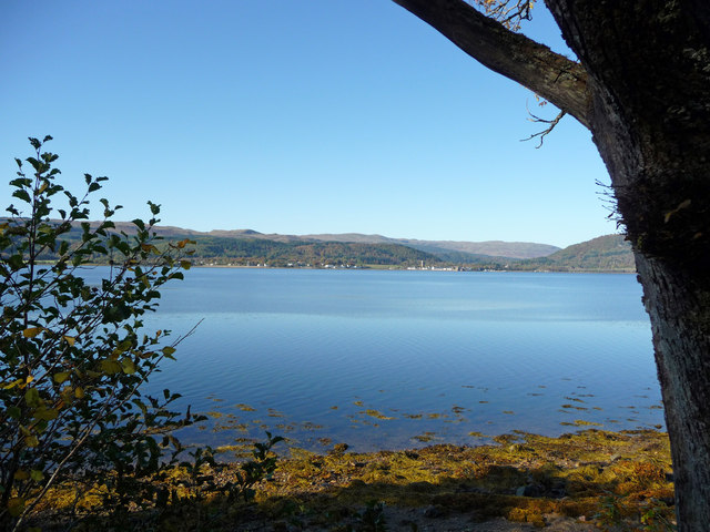 View across Loch Fyne to Inveraray