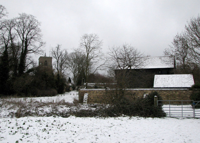 Fen Ditton in the snow