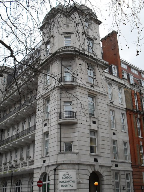 The Royal London Homoeopathic Hospital in Great Ormond Street
