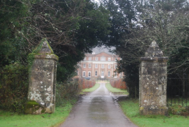 Looking up the drive to Crowcombe Court