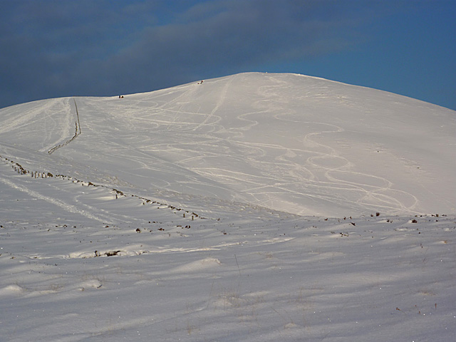 Allermuir in snow