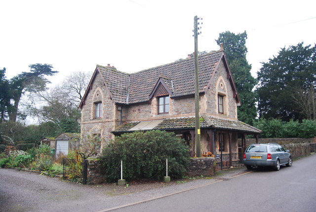 Large ornate house, Crowcombe