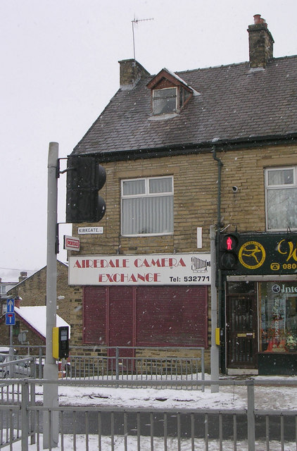 Airedale Camera Exchange - Kirkgate - in a snowstorm