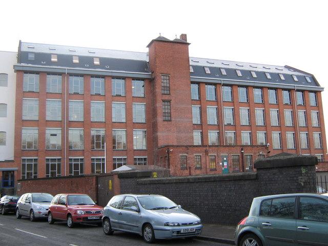 University of Derby's Britannia Mill on Mackworth Road, Derby