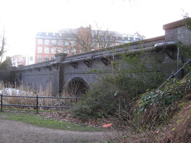 The bridge on Mackworth Road, Derby