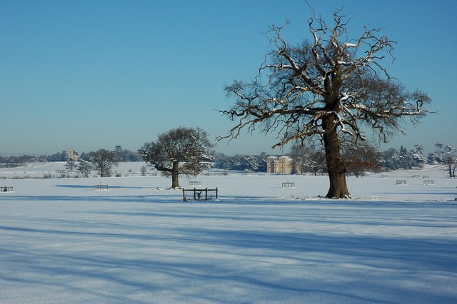 Croome Park in snow