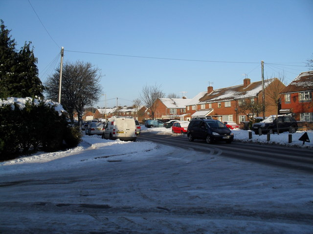 Looking from Awbridge Road out onto a treacherous Purbrook Way