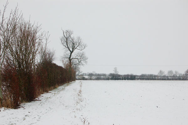 Snow on the bridleway south of Broadwell House Farm