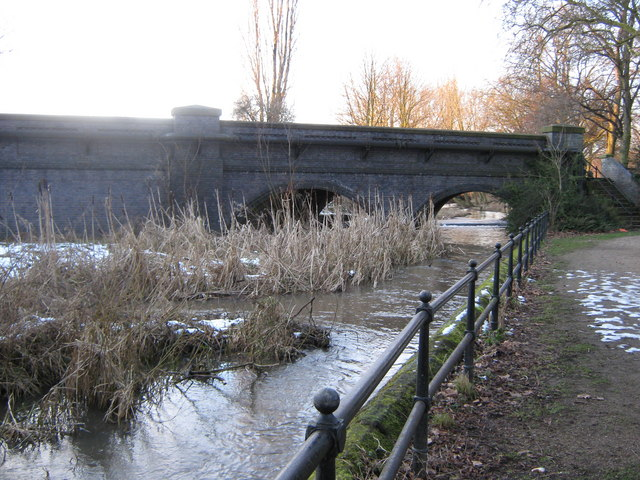 Markeaton Brook Bridge on Mackworth Road, Derby