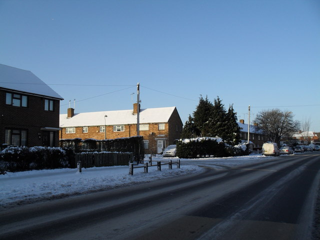 Looking from Purbrook Way across to Awbridge Road