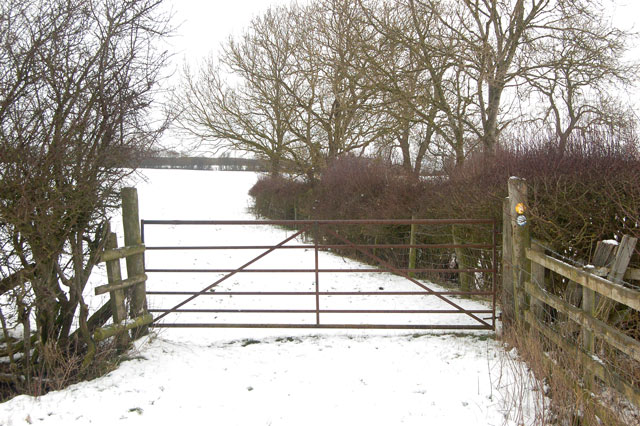 Gate on bridleway south of Tomlow