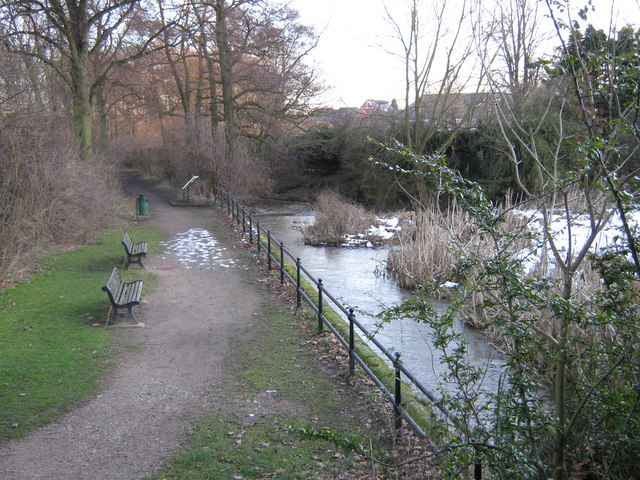 Markeaton Brook from Mackworth Road, Derby