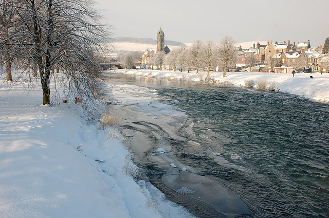 Ice on the Tweed, Peebles