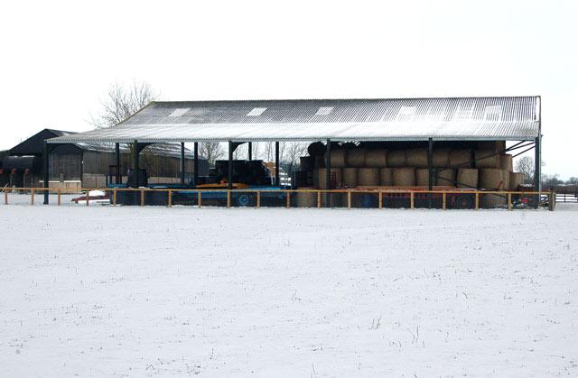 Snowy scene at Gibraltar House Farm