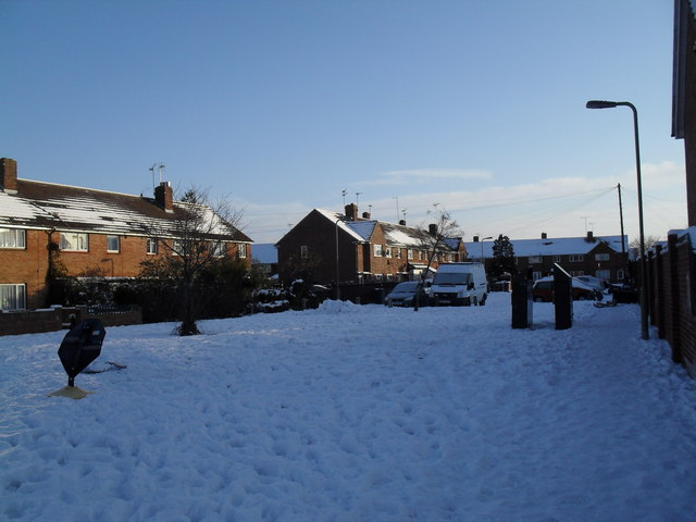 A snowy Boldre Close