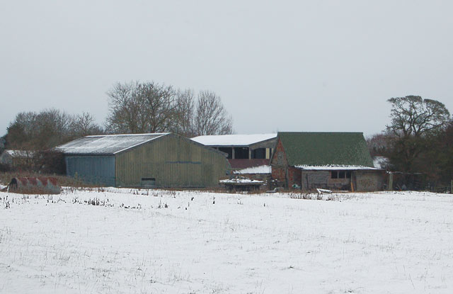 Sheds and barns south of Broadwell