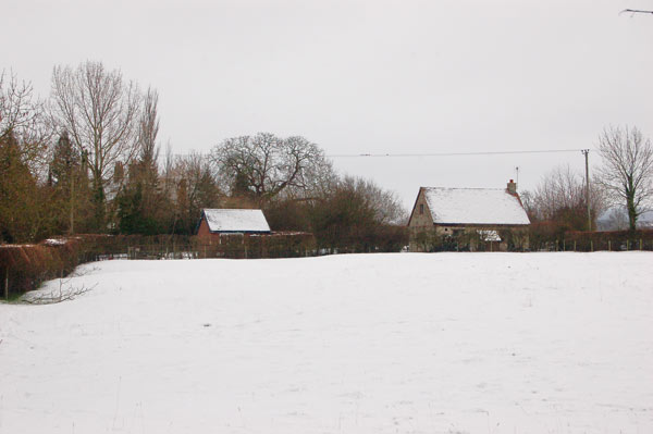 A snowy view in Broadwell
