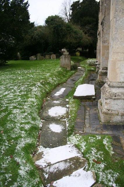Snow on the stones