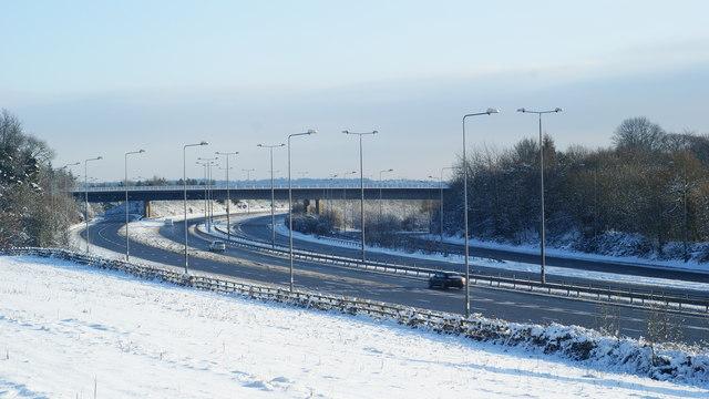 M23 Motorway, Near Merstham, Surrey