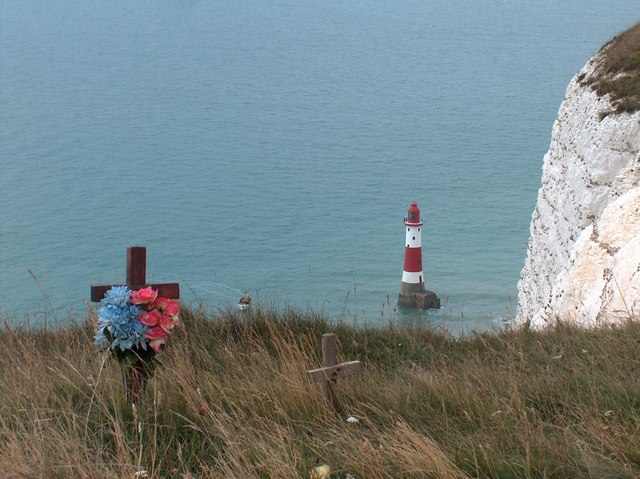 Beachy Head - Lighthouse and Wooden Crosses