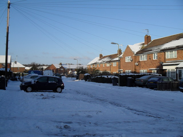 Boldre Close after January snow