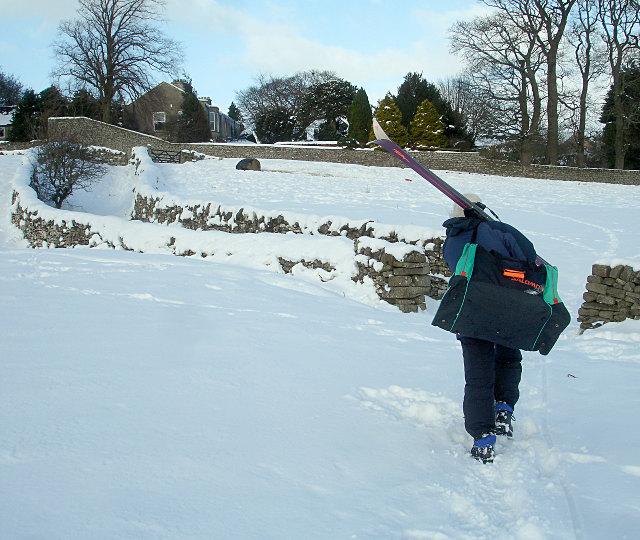 Heading for the apres-ski