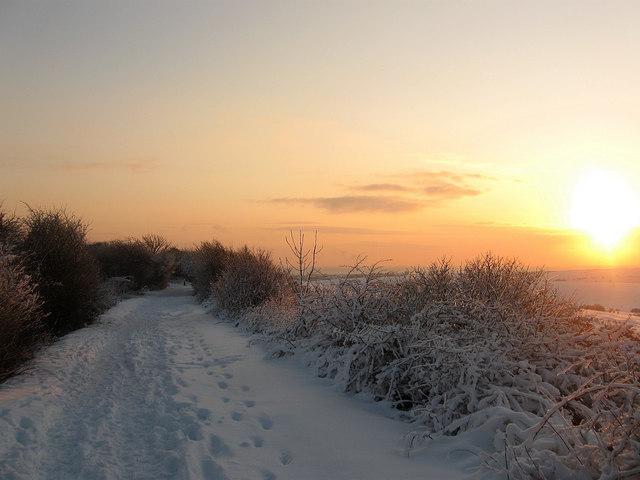 Sunset, Dyke Railway Trail