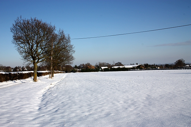 Mayalls Farm in the January snow