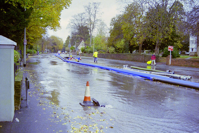 A23 closed by floods, November 2000