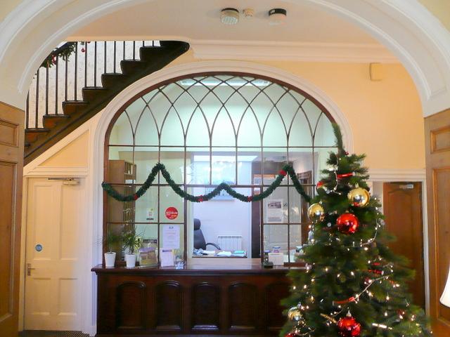 The Swan Hotel, Hay-on-Wye; reception