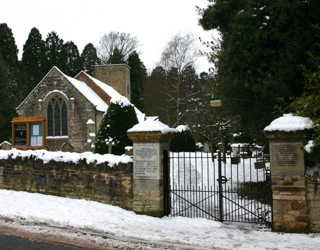 Entrance to Church of the Holy Cross, Moreton Morrell