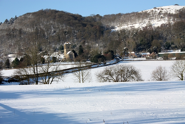 Little Malvern in the snow