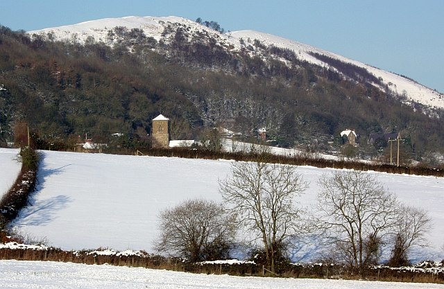 Little Malvern fields in the snow