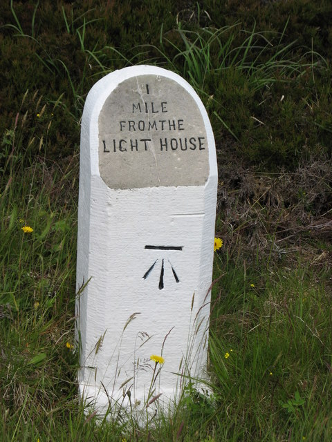 Milestone, 1 mile from Dunnet Head Lighthouse