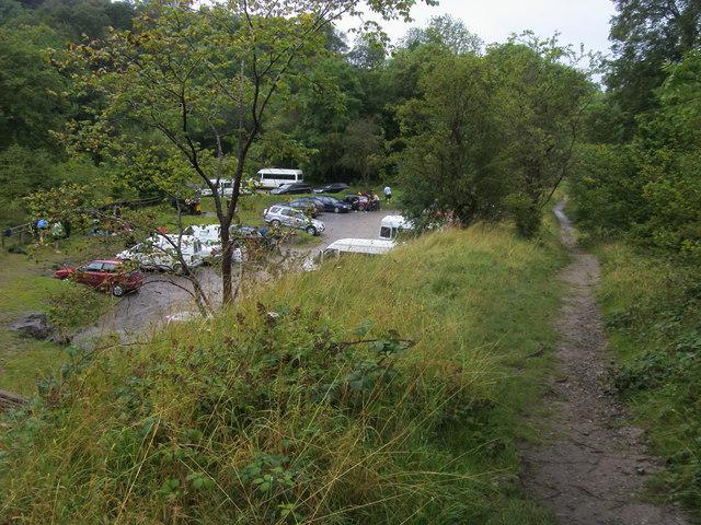 Footpath by Craig y Ddinas car park