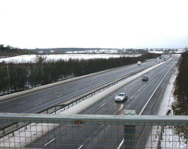 M40 from Fosse Way bridge